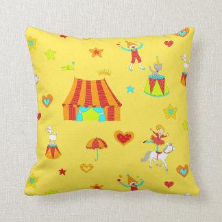 Pet Circus-Repeated Throw Pillow