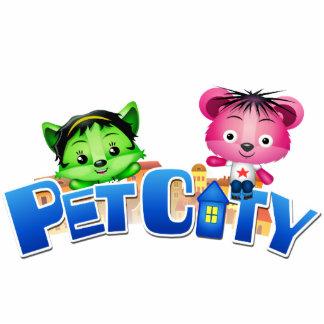 Pet City cutout magnet