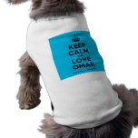 [Crown] keep calm and love omar  Pet Clothing