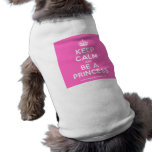 [Crown] keep calm and be a princess  Pet Clothing