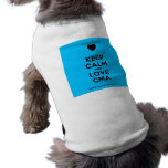 [Love heart] keep calm and love cma  Pet Clothing