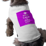 [Cutlery and plate] keep calm and just eat  Pet Clothing