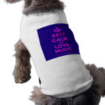 [Dancing crown] keep calm and love music  Pet Clothing