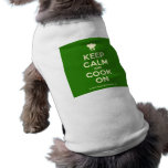 [Chef hat] keep calm and cook on  Pet Clothing