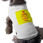[Smile] keep calm and smile on  Pet Clothing