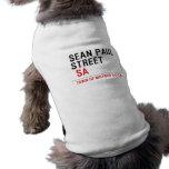 Sean paul STREET   Pet Clothing