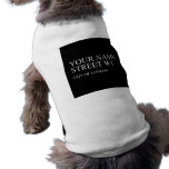 Your Name Street  Pet Clothing