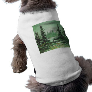Pet Clothing Ann Hayes Painting Green Forest