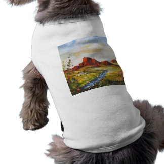Pet Clothing Ann Hayes Painting Red Rock Canyan