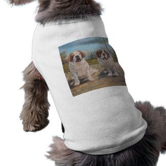 Pet Clothing Ann Hayes Painting Two Saint Bernards
