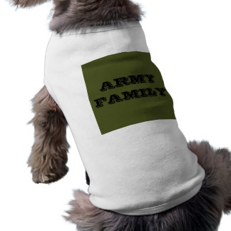 Pet Clothing Army Family