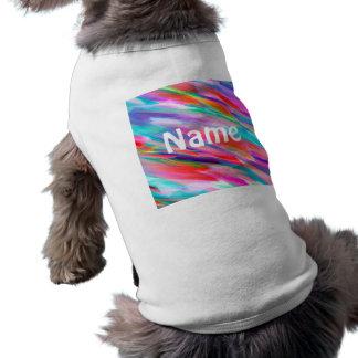 Pet Clothing Colorful digital art splashing