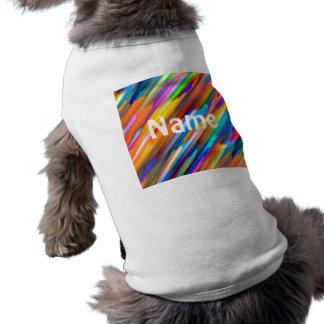 Pet Clothing Colorful digital art splashing G391