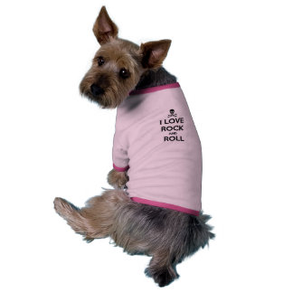 pet clothing, dog, i love rock and roll