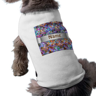 Pet Clothing Floral Abstract Stained Glass