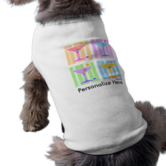 Pet Clothing - Retro Pop Art Martinis