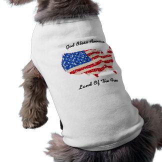 Pet Clothing USA Flag God Bless America