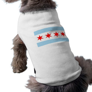 Pet Clothing with Flag of Chicago, Illinois, USA