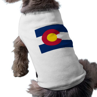 Pet Clothing with Flag of Colorado