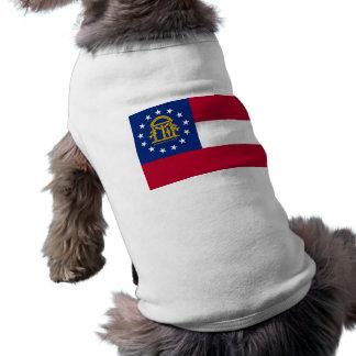 Pet Clothing with Flag of Georgia, USA