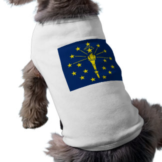 Pet Clothing with Flag of Indiana, USA