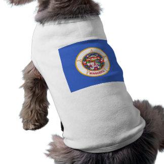 Pet Clothing with Flag of Minnesota, USA