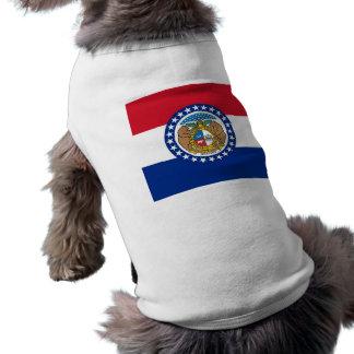 Pet Clothing with Flag of Missouri, USA