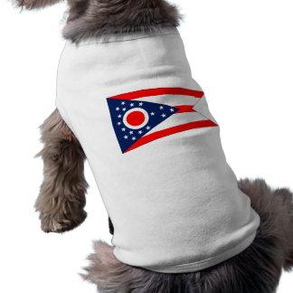 Pet Clothing with Flag of Ohio, USA