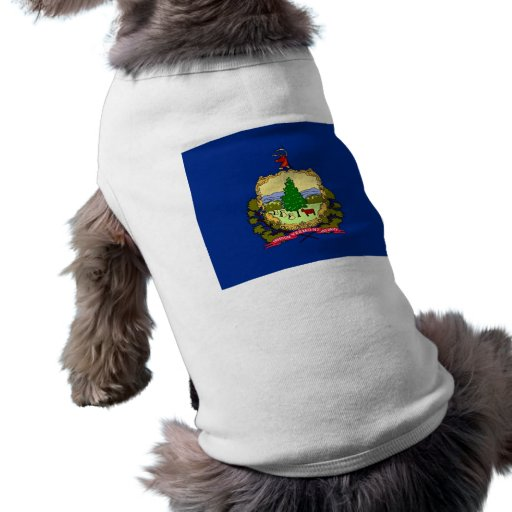 Pet Clothing with Flag of Vermont, USA