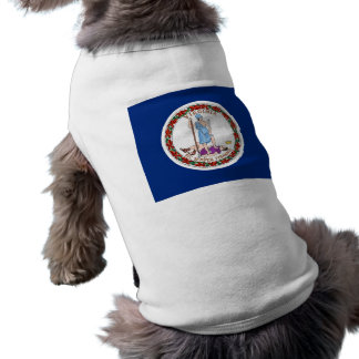 Pet Clothing with Flag of Virginia USA