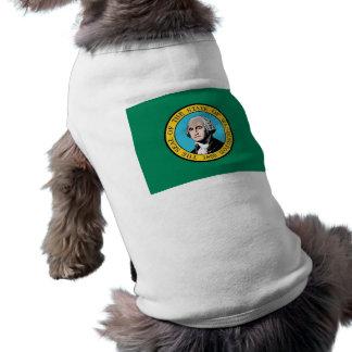 Pet Clothing with Flag of Washington, USA