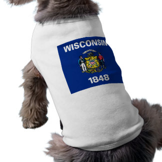 Pet Clothing with Flag of Wisconsin, USA