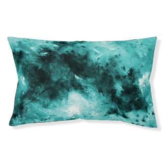 Pet Collection - Abstract Teal Black Pet Bed