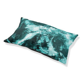 Pet Collection - Abstract Teal colored Pet Bed