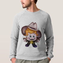 PET COWBOY  MEN RAGLAN  SHIRT