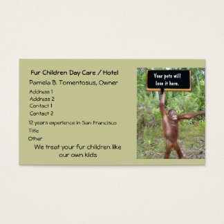 Pet Day Care or Boarding Business Card