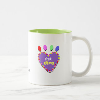 Pet Diva Two-Tone Coffee Mug