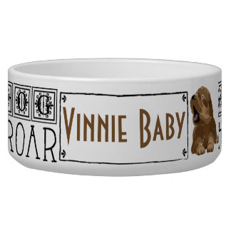 "Pet DOG Bowl Large ""I am dog Hear Me Roar"""