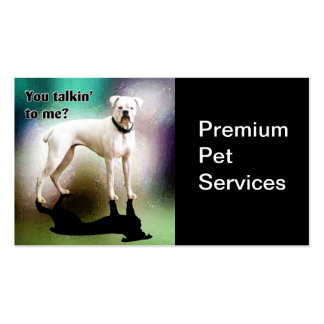 Pet Dog Cat Services Business Card Template