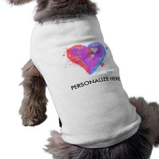 PET, DOG, CAT TEES - Torn Heart Doggie Tshirt