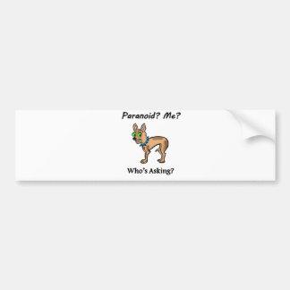 Pet Dog Chihuahua Paranoid Bumper Sticker