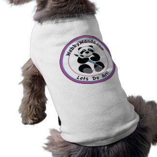 Pet Dog Coat with Panda webbywanda.com Logo T-Shirt