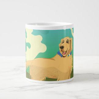 Pet Dog in the park Large Coffee Mug