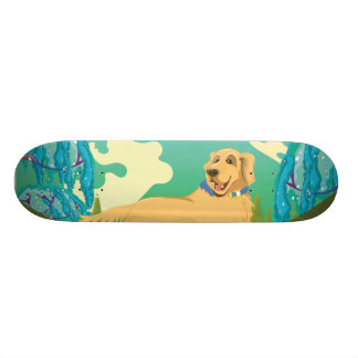 Pet Dog in the park Skateboard Deck