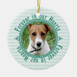 Pet Dog Memorial Celtic Knot Photo Christmas Christmas Tree Ornaments