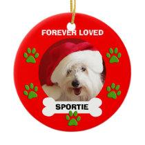 Pet Dog Memorial Christmas Ornament Gifts