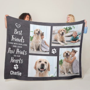 Pet Blanket Grey Paw Puppy Blanket Dog Blanket Bulldogs Personalized Dog Blanket Latte on Tan Paws  Blanket All Sizes Made to Order