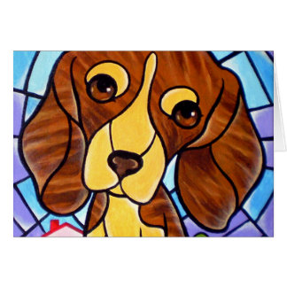 Pet Dog Painting Art - Multi Card
