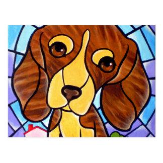 Pet Dog Painting Art - Multi Postcard