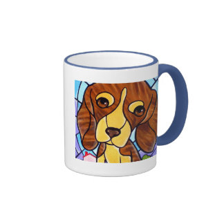Pet Dog Painting Art - Multi Ringer Mug